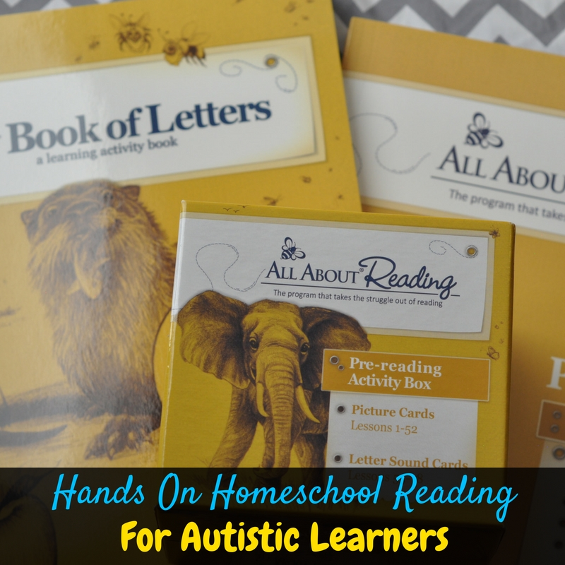 All About Reading is the best hands on homeschool reading curriculum for autistic learners. It's multi-sensory and goes at each kids' own pace. We love it!