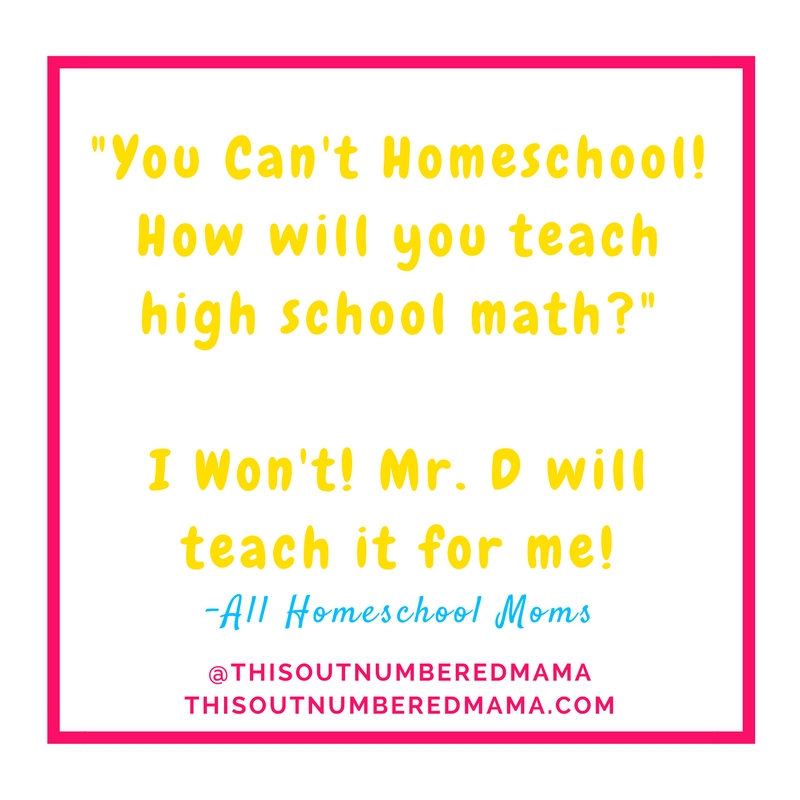 Homeschooling pre-algebra is panic inducing for most homeschool moms, but you can do it without teaching math at all! Let Mr. D Math handle math for you!