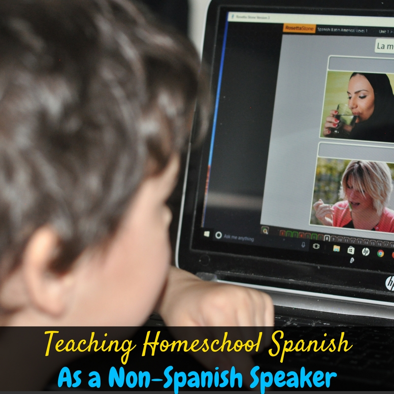 We're teaching homeschool Spanish even though I'm a non-Spanish Speaker, and it's so easy thanks to Rosetta Stone Language Learning for Homeschool!
