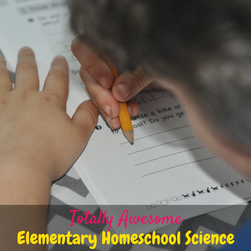 This elementary homeschool science curriculum is totally awesome! Mr. C loves it!