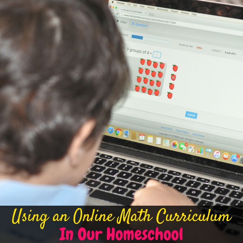 This year I'm embracing simplicity in my homeschool, and that includes using an online math curriculum! This is seriously the simplest math curriculum I've tried!