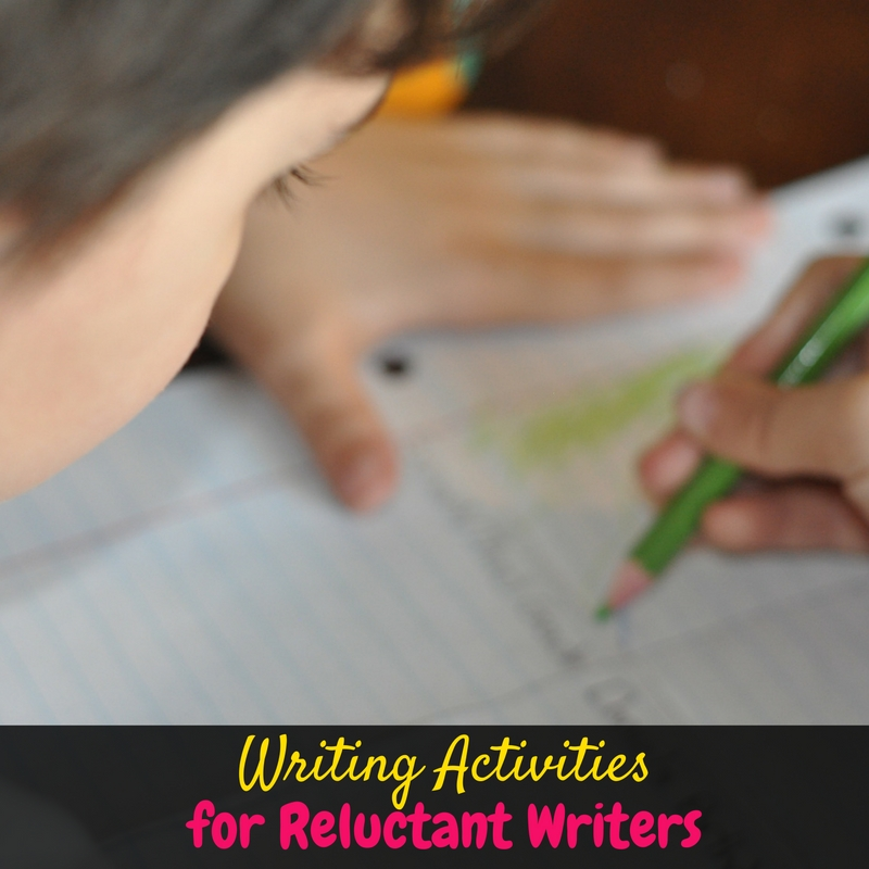 I have a reluctant writer, and these activities turned writing into one of his favorite subjects! If your little one is struggling with writing, you have to check this out!