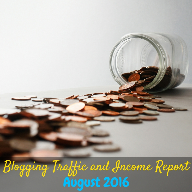 This blog traffic and income report for August 2016 is awesome because it is actually realistic for smaller bloggers! How to make money with a small blog!
