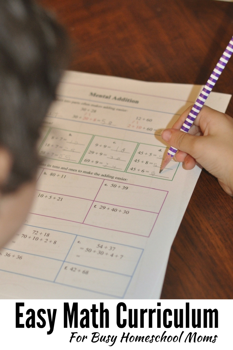 Easy Math Curriculum for Busy Homeschool Moms