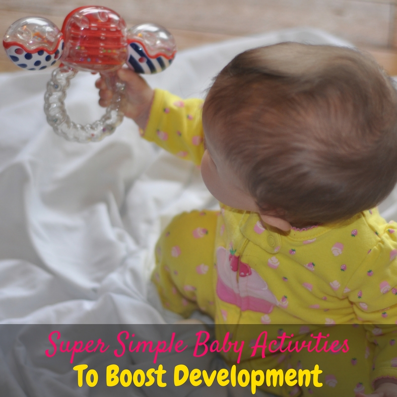 These super simple baby activities that boost development are perfect for moms who want to support their baby's important developmental milestones!