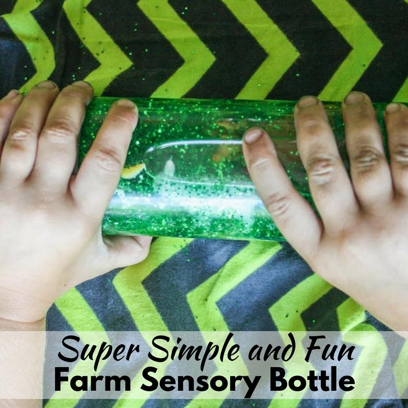 Super Simple and Fun Farm Sensory Bottle!