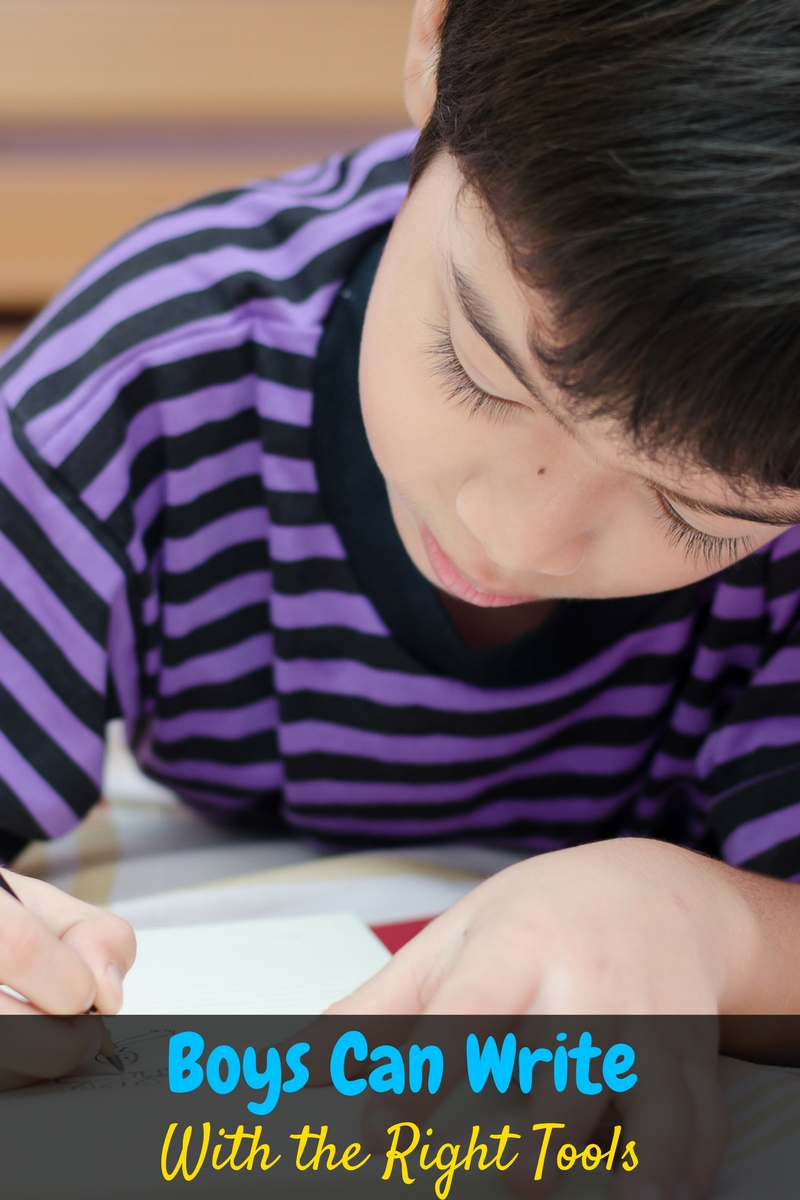 People think that boys can't write but it isn't true! Boys can write with the right tools, and this post helps you teach your boys to write!
