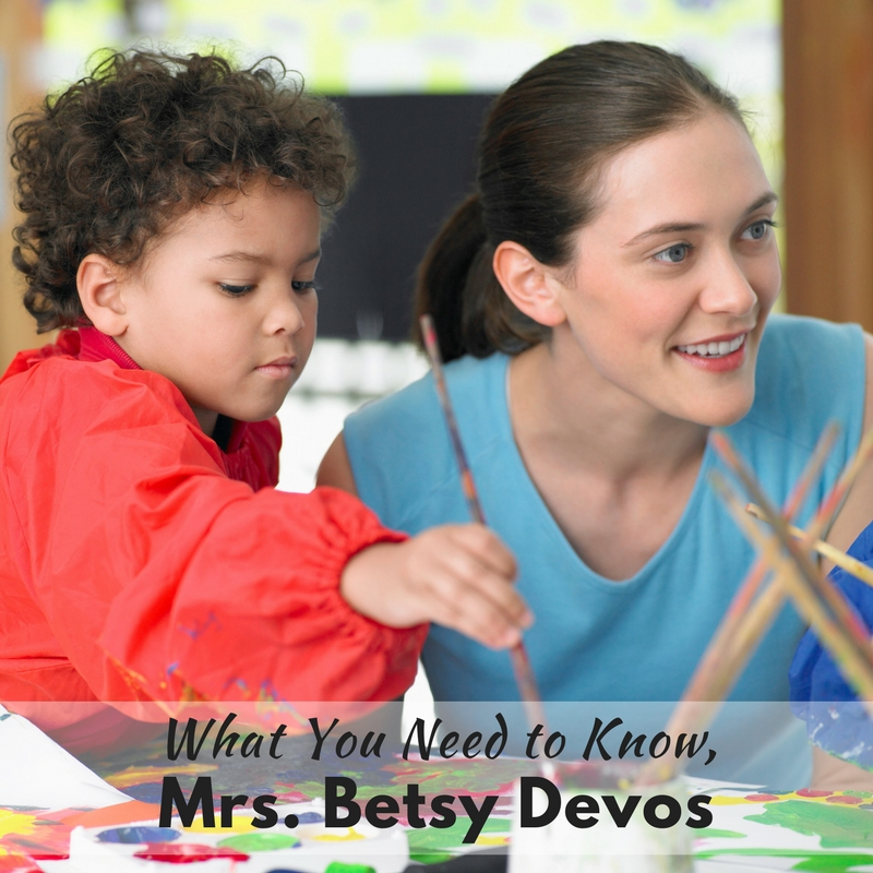 Here's what you really need to know about special education, Mrs. Betsy Devos