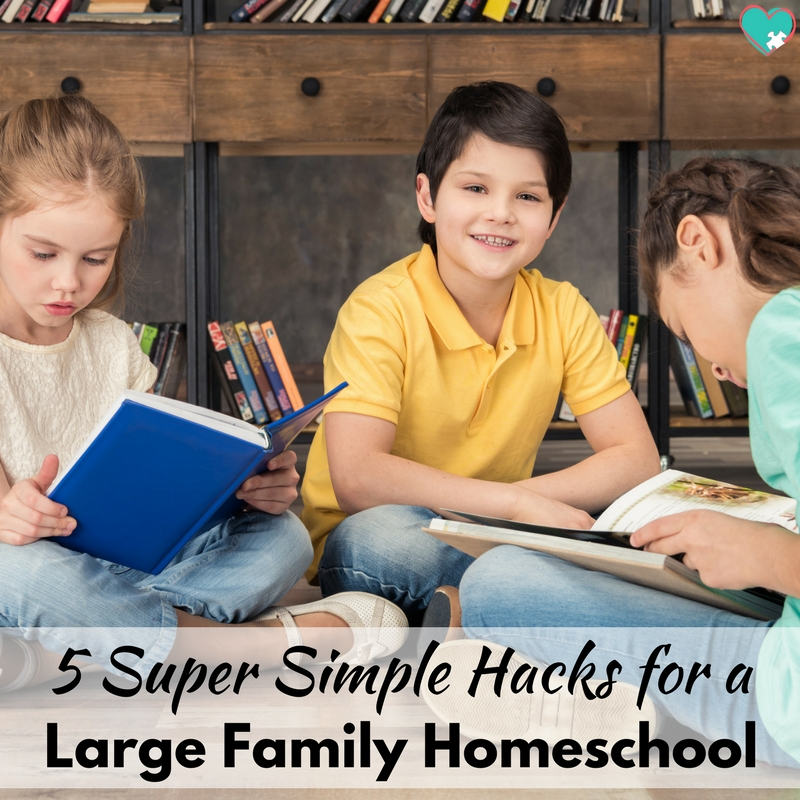 5 Super Simple Large Family Homeschooling Hacks