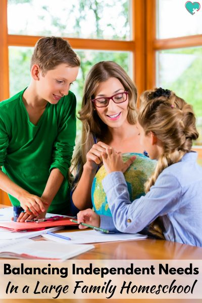 Balancing Independent Needs in a Large Family Homeschool