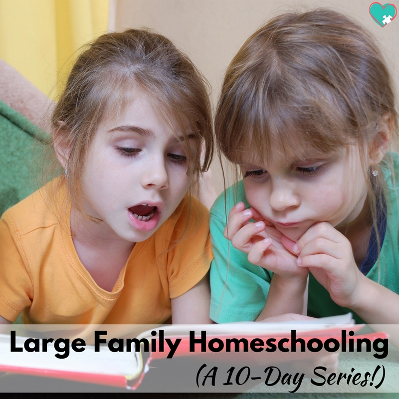 Large Family Homeschooling! A 10-day series from This Outnumbered Mama!