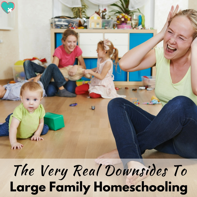 The Very Real Downsides to Large Family Homeschooling