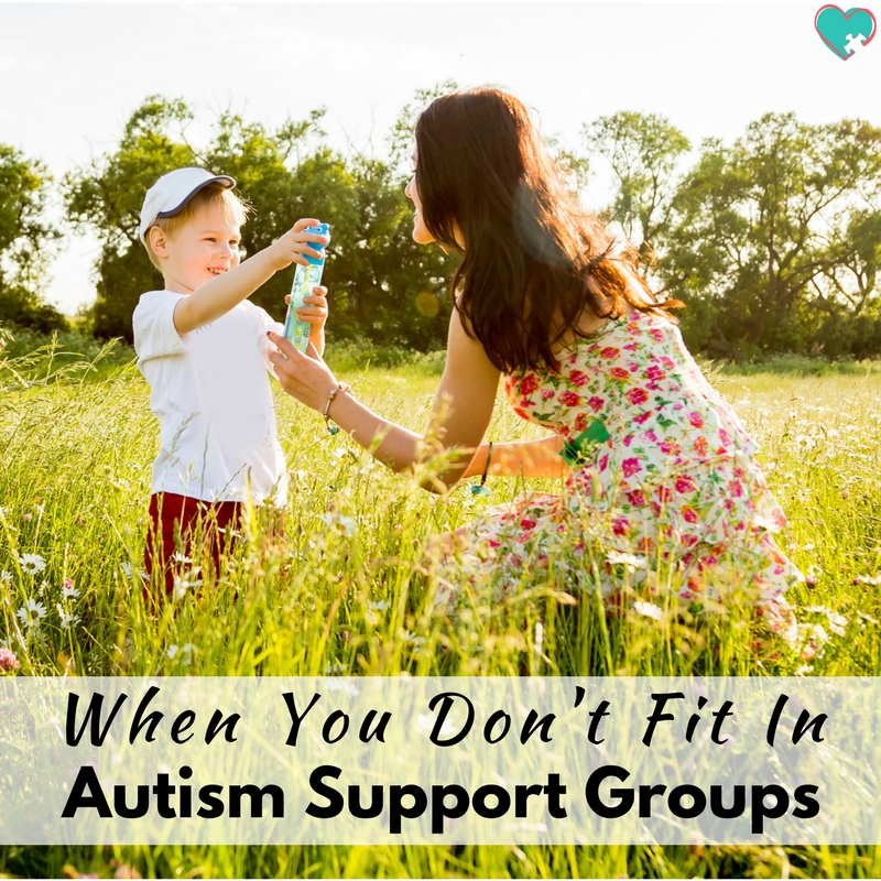 When You Don't Fit in Autism Support Groups