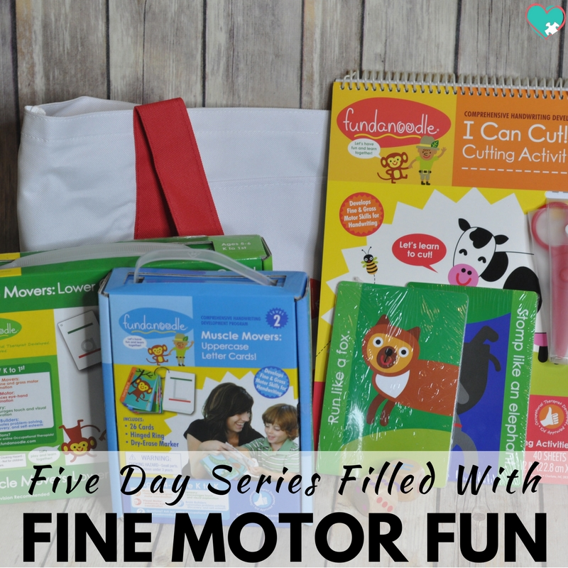 Five Days of Fine Motor Fun for Homeschool Moms!