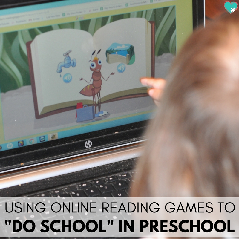 "Using Online Reading Games to ""Do School"" in Preschool"