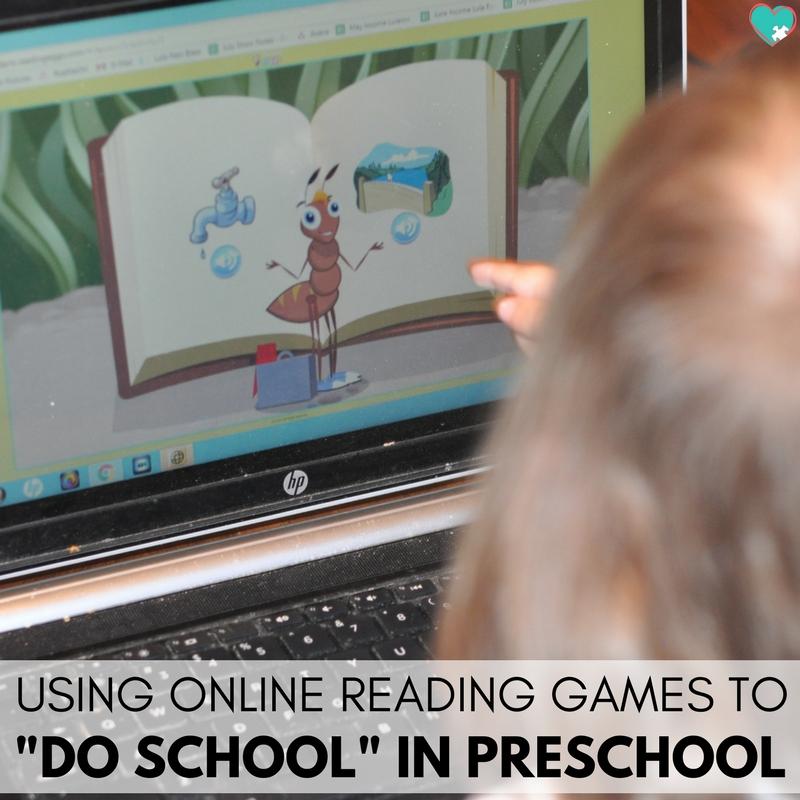 """Using Online Reading Games to """"Do School"""" in Preschool"""