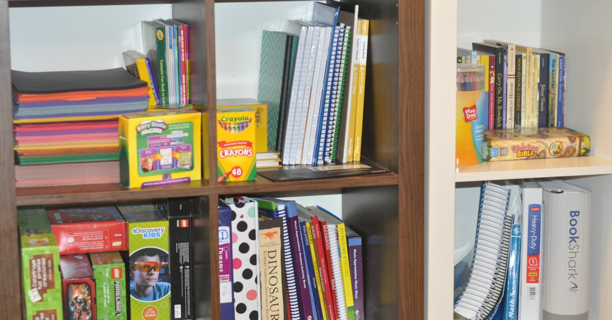 A Look Into A Large Family Homeschooling Space