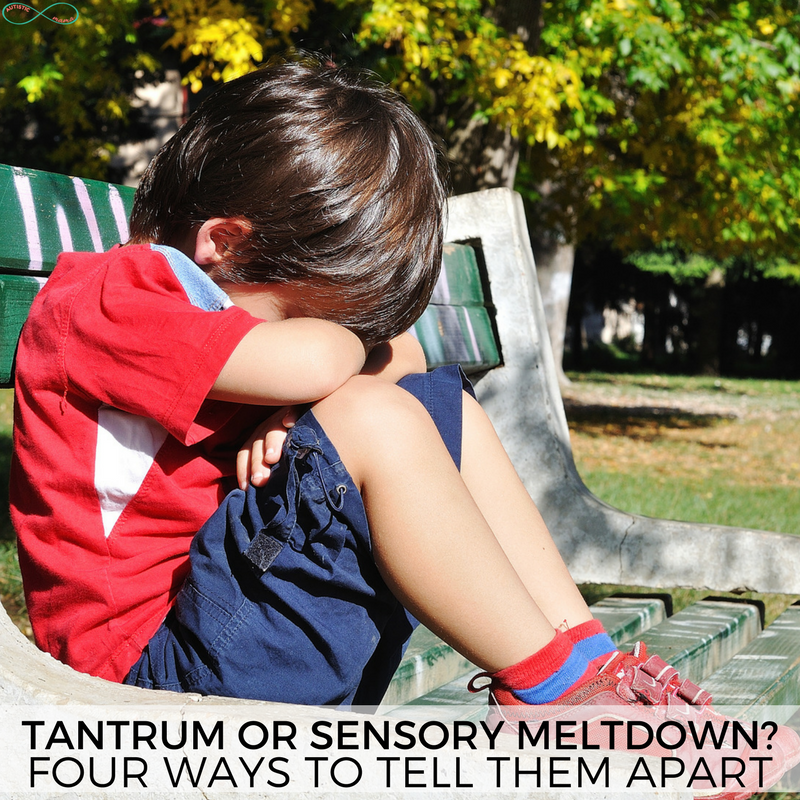 Tantrum or Meltdown? Four Ways to Tell the Difference #tantrum #parenting #meltdown #sensory #autism #autismmeltdown #sensorymeltdown