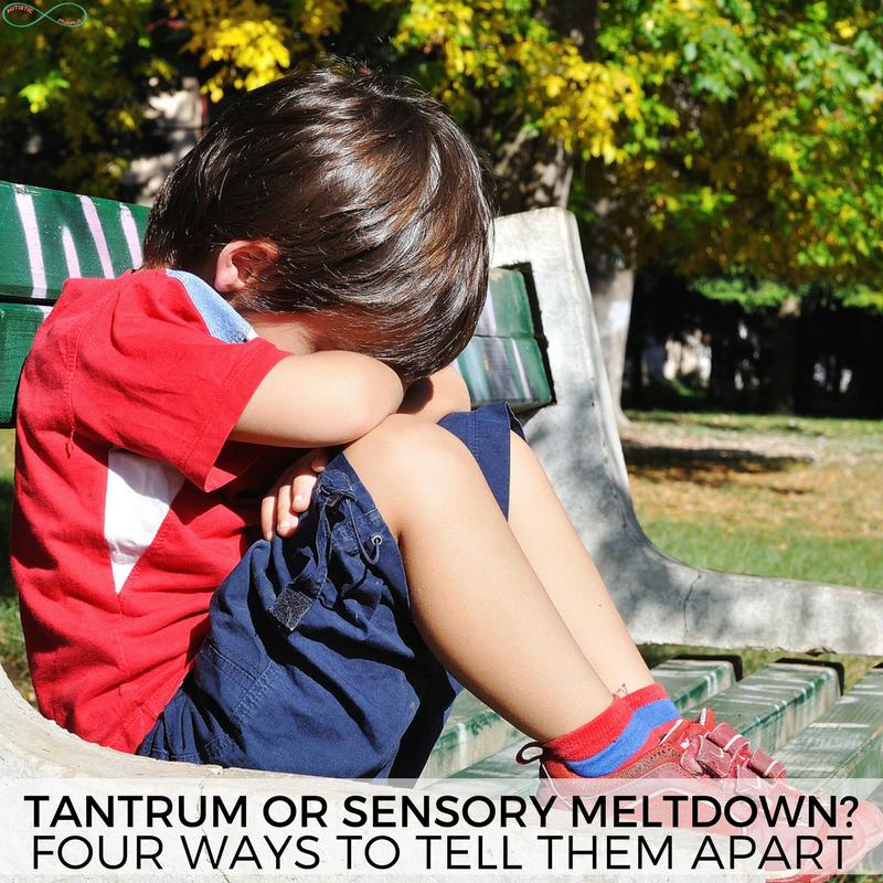 Tantrum or Meltdown? Four Ways to Tell the Difference #tantrum #parenting #meltdown #sensory #autism #autismmeltdown #sensorymeltdown