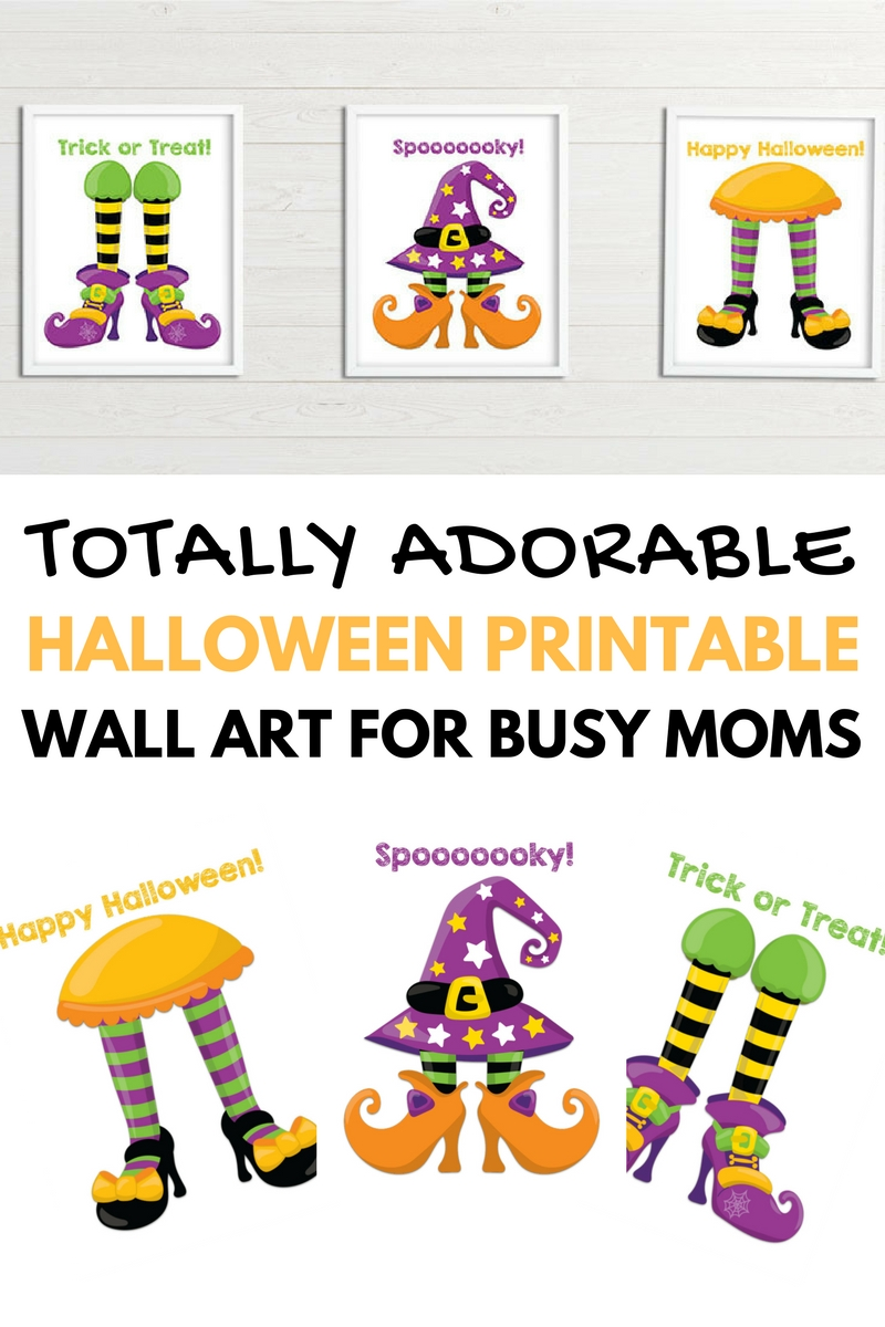 This totally adorable Halloween printable wall art is perfect for busy mom who wants to decorate for Halloween but feels like she never has the time!