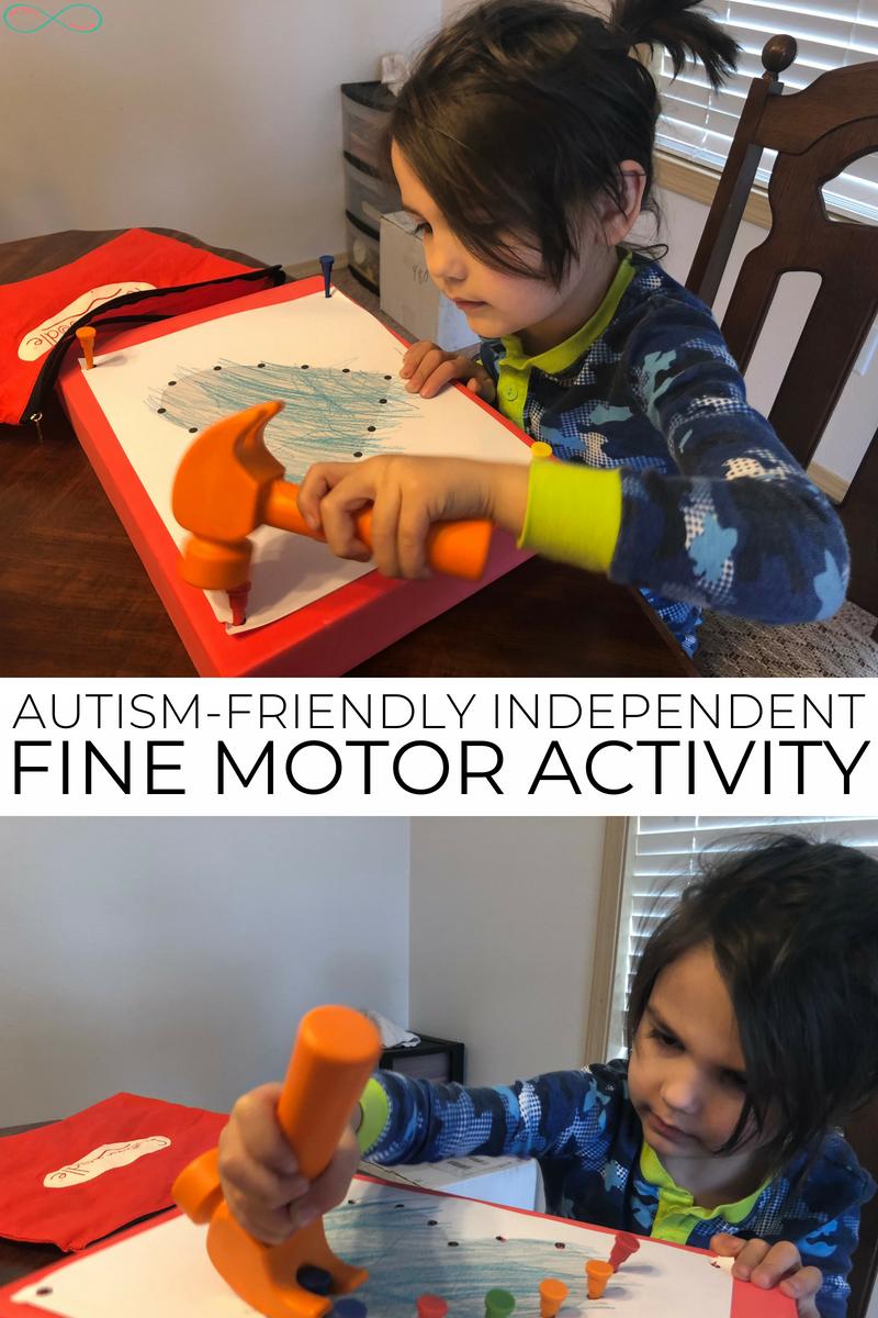 Autism-Friendly Independent Fine Motor Activity #Autism #FineMotor #AutismActivity #SensoryActivity #homeschooling #ihsnet