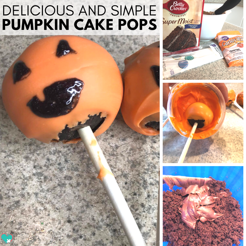 Delicious and Simple Halloween Pumpkin Cake Pops