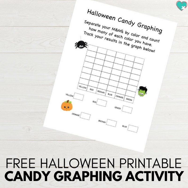 Free Printable Halloween Candy Graphing Activity