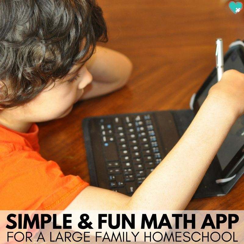 Simple & Fun Math App for a Large Family Homeschool