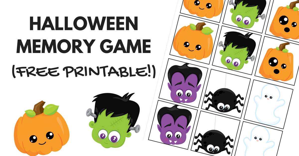 picture relating to Printable Memory Game identify Lovely and Pleasurable Halloween Memory Sport Absolutely free Printable