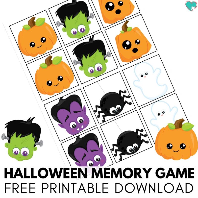 Super Adorable and Fun Halloween Memory Game Free Printable!