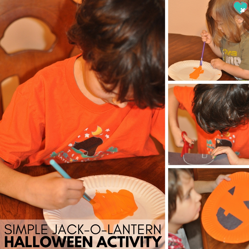 Super Simple & Fun Jack-O-Lantern Halloween Activity