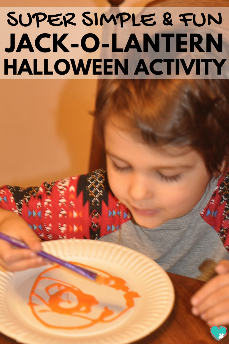 Super Simple and Fun Jack-o-Lantern Halloween Activity