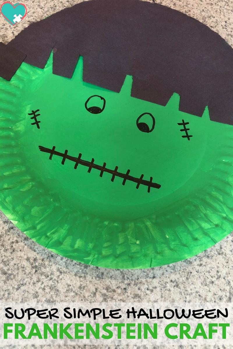 Simple & Fun Frankenstein Halloween Craft for Kids