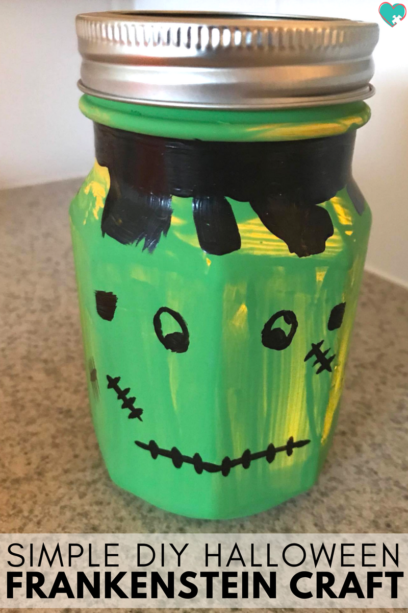 Ridiculously Simple DIY Halloween Frankenstein Lantern Craft