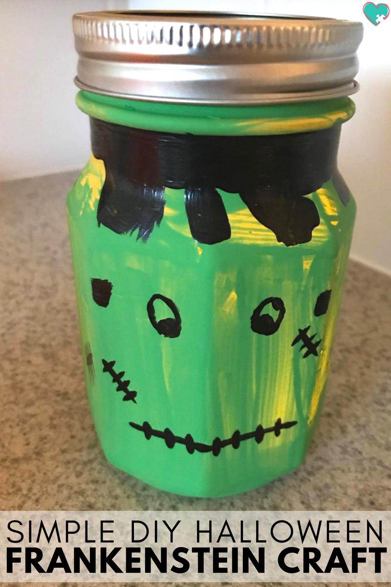 Ridiculously Simple DIY Halloween Frankenstein Lantern Craft