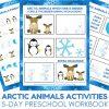 Arctic Animals Activities - 5-day Preschool Activities Workbook for Arctic Animal Unit Studies