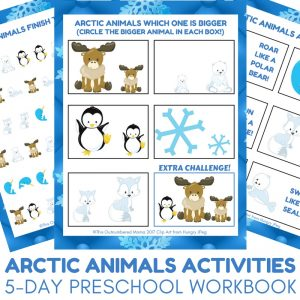 Arctic Animals Activities - 5-day Preschool Activities Workbook for Arctic Animal Unit Studies