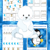 Arctic Animals Math Activities - 5-day Preschool Math Workbook for Arctic Animal Unit Studies