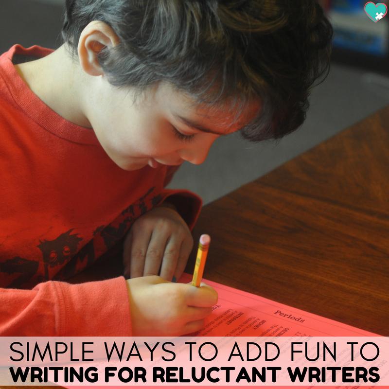 Super Simple Ways to Add Fun to Writing for Reluctant Writers