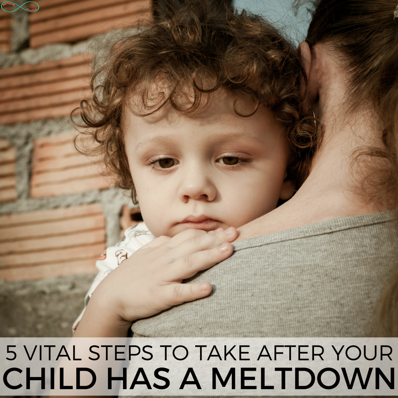 5 Vital Steps to Take AFTER a Meltdown that you're probably not doing... #meltdown #autism #autismmom #actuallyautistic #tantrum #parenting