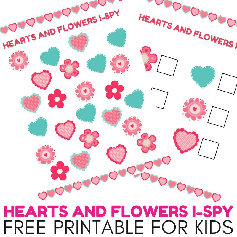 Super Fun Hearts and Flowers I-Spy Free Printable for Kids #FreePrintable #ISpy #KidsActivity #Printables #ihsnet #homeschooling #homeschoolingmama