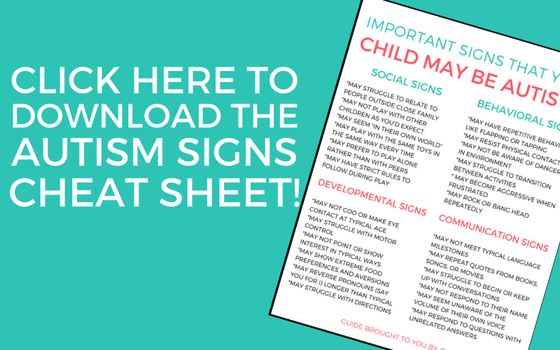 Check out these 20+ important signs your child may be autistic! The signs of autism can sometimes be easy to miss, so this is a must read for all parents! #Autism #AutismAwareness #AutismAcceptance #AutisticChild #AutismMom #Parenting