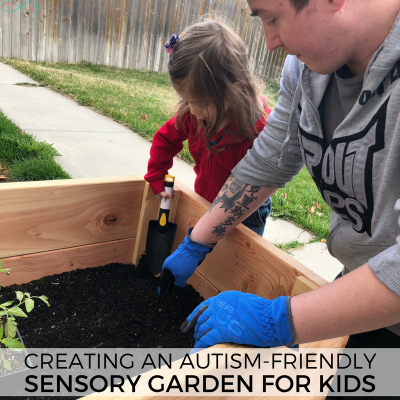Making an autism-friendly sensory garden is the perfect spring activity for autistic kids! Dig in the dirt and get kids outside with this super fun sensory friendly garden! #gardening #gardeningwithkids #sensory #sensoryprocessingdisorder #autism #kidsactivities #sensoryfriendly #sensoryplay