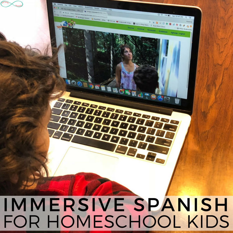 Immersive Spanish for Homeschool Kids #Spanish #Homeschool #homschooling #homeschoolcurriculum #homeschoolmom #homeschoolingmama