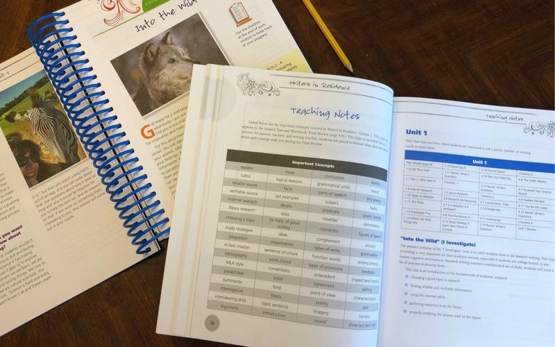 A Thorough Homeschool Writing Curriculum | Writers in Residence™ #ihsnet #homeschooling #homeschool #homeschoolmom #homeschoolcurriculum #writing #writingactivities #curriculum #homeschoolwriting