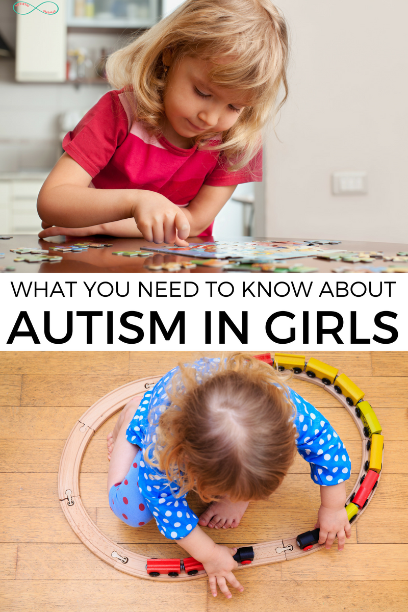 Autism in girls... And how it's different from boys! Check out this guide for information on autism girls vs. boys! #autism #actuallyautistic #autismawareness #autismacceptance #autismmom