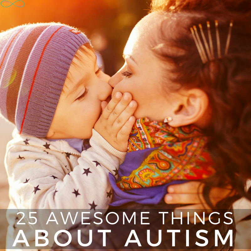 25 Awesome Things About Autism. Check out the things that make autism awesome! #Autism #AutismAcceptance #ActuallyAutistic #AutismMom