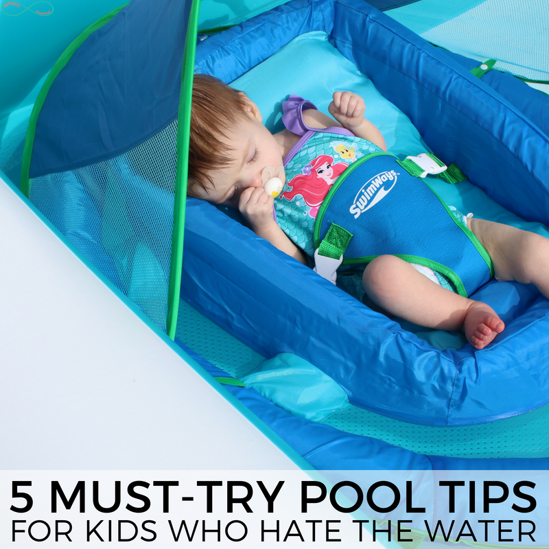 Check out these 5 must-try pool tips for kids that hate water! How do you help kids who hate water actually get into the pool without an argument? #waterplay #poolplay #summeractivities #summer