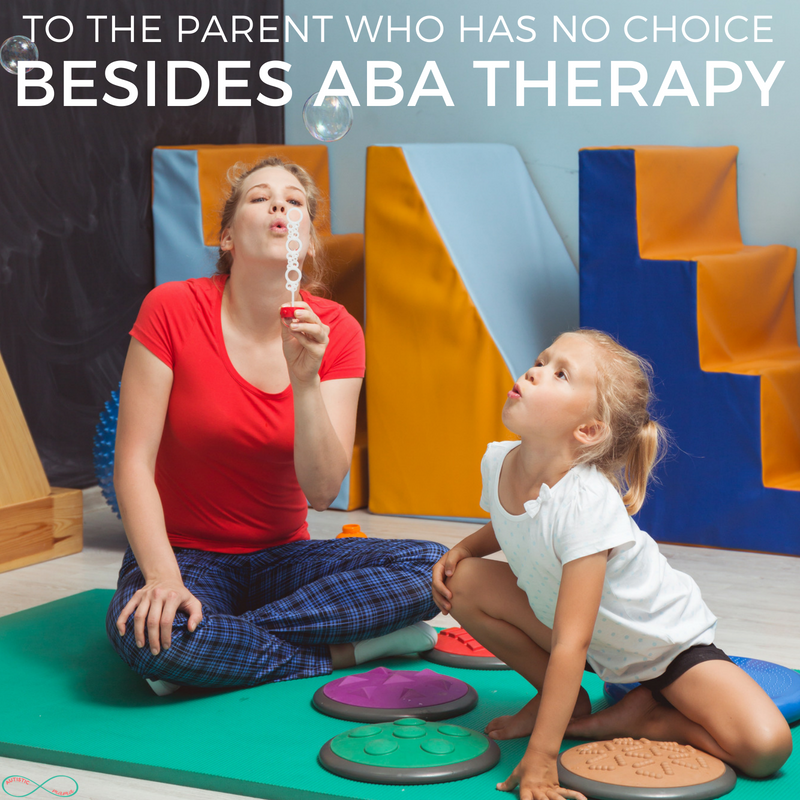 To the parent who has no choice but to use ABA therapy, you aren't a bad parent... This is a must-read if you use ABA therapy for your autistic child! #ABA #ABAtherapy #behavioraltherapy #autism #autistic #actuallyautistic #autismmom