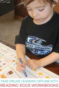 Taking Online Learning Offline with Reading Eggs Workbooks